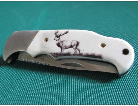 Taschenmesser Parforce mit Hirschgravur